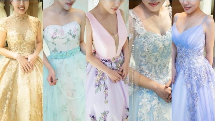 女孩最愛!夢幻粉嫩馬卡龍宴客禮服 新娘試穿直擊(上)