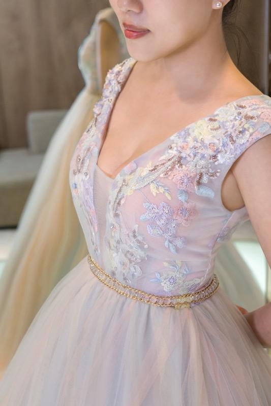 婚紗禮服 女孩最愛!夢幻粉嫩馬卡龍宴客禮服 新娘試穿直擊(下)