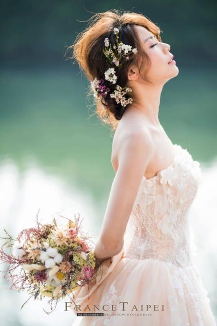 氣質新娘指定!花草系盤髮