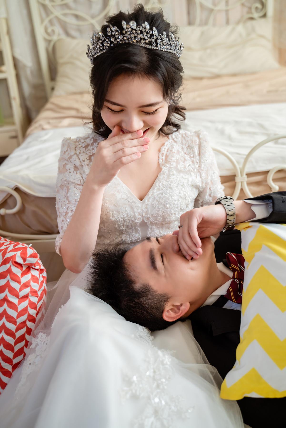 高雄法國台北婚紗 公主 微笑